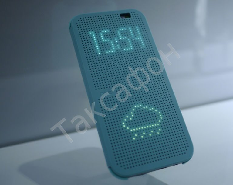 Flip чехол для HTC One M8 Dot View Cover Blue