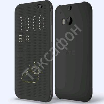 Flip чехол для HTC One M8 Dot View Cover Grey