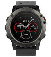 Часы Garmin Fenix 5X Sapphire Slate Gray with Black Band (no Russian)