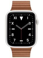 Apple Watch Edition Series 5 (GPS+Cellular) 44mm White Ceramic Case with Saddle Brown Leather Loop