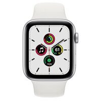 Apple Watch SE GPS 44mm Silver Aluminum Case with White Sport Band (серебристый / белый)