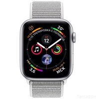 Apple Watch Series 4 (GPS) 44mm Silver Aluminum Case with Seashell Sport Loop (MU6C2)