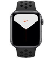 Apple Watch Nike+ Series 5 GPS 44mm Aluminum Case with Nike Sport Band (серый космос / антрацитовый / черный) MX3W2RU/A