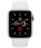 Apple Watch Series 5 GPS 40mm Aluminum Case with Sport Band (серебристый / белый) MWV62LL/A