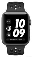Apple Watch Nike+ Series 3 (GPS) 38mm Space Gray Aluminum Case with Anthracite / Black Nike Sport Band (MTF12)