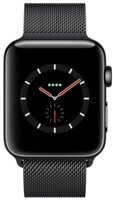 Часы Apple Watch Series 3 Cellular 42mm Stainless Steel Case with Milanese Loop (Black)