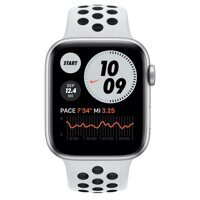 Apple Watch Series 6 GPS 40mm Aluminum Case with Nike Sport Band (серебристый / чистая платина / черный) M00T3RU/A