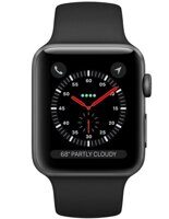 Apple Watch Series 3 GPS 38mm (Space Gray Aluminum Case with Black Sport Band) MTF02RU/A