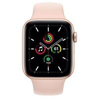 Apple Watch SE GPS 44mm Gold Aluminum Case with Pink Sand Sport Band (золотой / розовый песок)