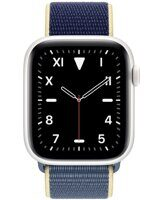 Apple Watch Edition Series 5 (GPS+Cellular) 44mm White Ceramic Case with Alaska Blue Sport Loop