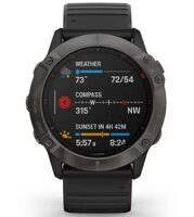 Часы Garmin Fenix 6X Sapphire Carbon Gray DLC with Black Band