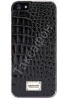 Кожаный чехол Patchworks Classique snap-on case leather Croco (Black)