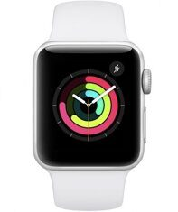 Apple Watch Series 3 GPS 38mm (Silver Aluminum Case with White Sport Band) MTEY2RU/A