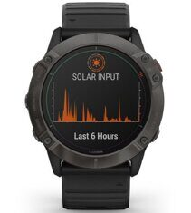 Часы Garmin Fenix 6X Pro Solar Titanium Carbon Gray DLC with Black Band