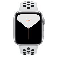 Apple Watch Nike+ Series 5 GPS 44mm (MX3V2LL/A) Silver Aluminum Case with Pure Platinum / Black Nike Sport Band