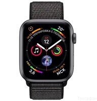 Apple Watch Series 4 (GPS) 40mm Space Gray Aluminum Case with Black Sport Loop (MU672)