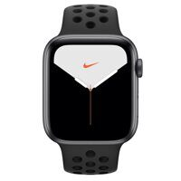 Apple Watch Nike+ Series 5 GPS 44mm Aluminum Case with Nike Sport Band (серый космос / антрацитовый / черный) MX3W2LL/A