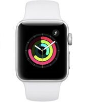 Apple Watch Series 3 GPS 38mm Silver Aluminum Case with White Sport Band (серебристый / белый) MTEY2RU/A