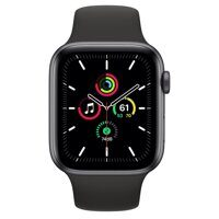 Apple Watch SE GPS 40mm Space Gray Aluminum Case with Black Sport Band (серый космос / черный)