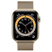 Apple Watch Series 6 GPS + Cellular 44mm Stainless Steel Case with Milanese Loop (золотистый)
