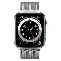 Apple Watch Series 6 GPS + Cellular 40mm Stainless Steel Case with Milanese Loop (серебристый)